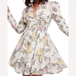 FREE PEOPLE Fake Pretend Babydoll Floral Dress